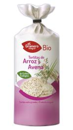 Tortitas de arroz y avena bio 115g.