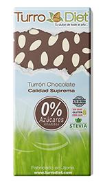 Turrón de chocolate negro sin azúcar TurroDiet 150g.