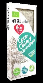 Turrón de coco, chía y almendras El Abuelo 200g.