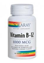 Vitamina B12 y ácido fólico Solaray 1000mcg 90 comp.