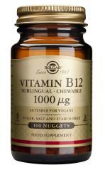 Vitamina B12 1000 μg Solgar 100 comprimidos