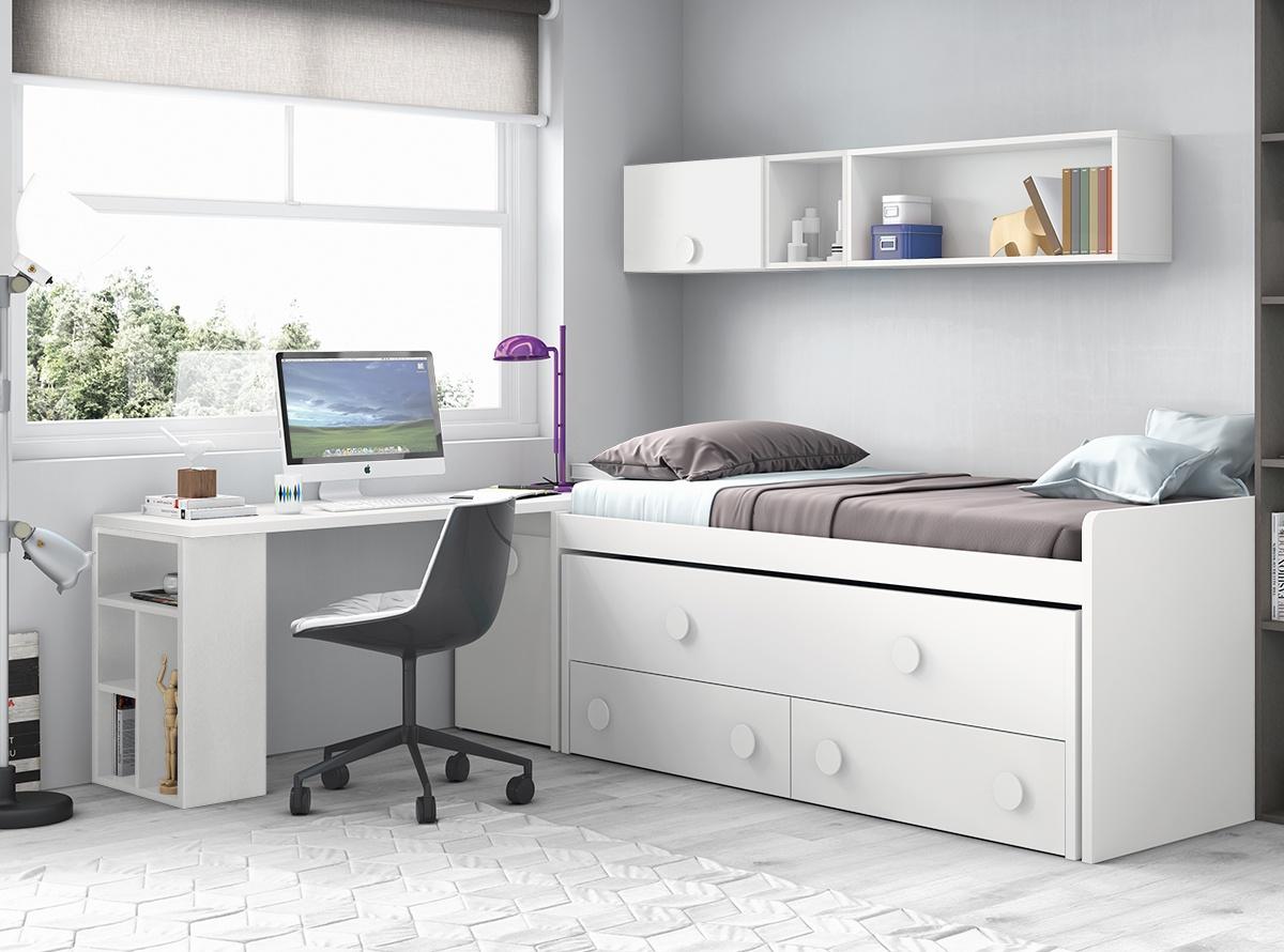 Habitacion akane 4 dormitorios juveniles hipermueble for Dormitorios juveniles con cama grande