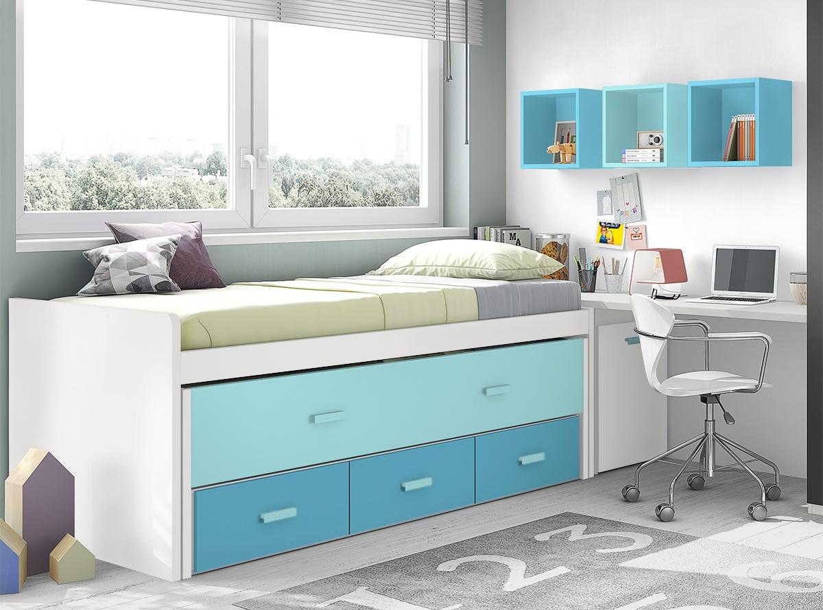 Habitacion akane 3 dormitorios juveniles hipermueble - Hipermueble menorca ...