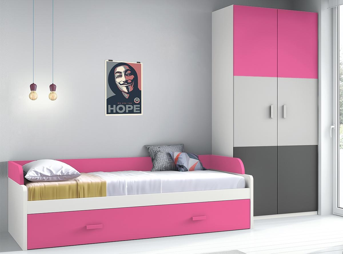 Sofa cama para habitacion juvenil amazing camas litera y - Habitacion tren juvenil ...