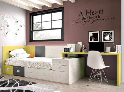 Dormitorios juveniles tiendas de muebles hipermueble for Ver dormitorios juveniles