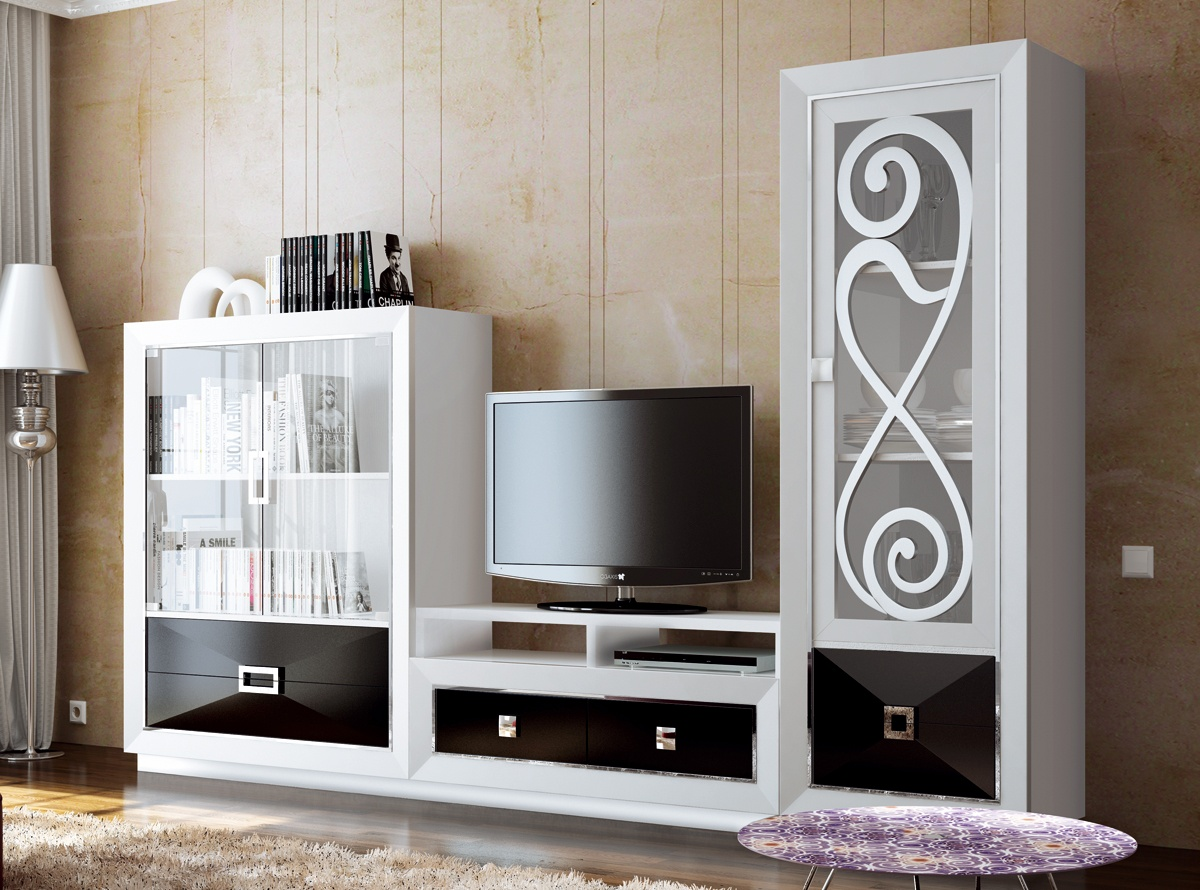 Mueble de salon atria salones modernos hipermueble for Muebles para salones pequenos