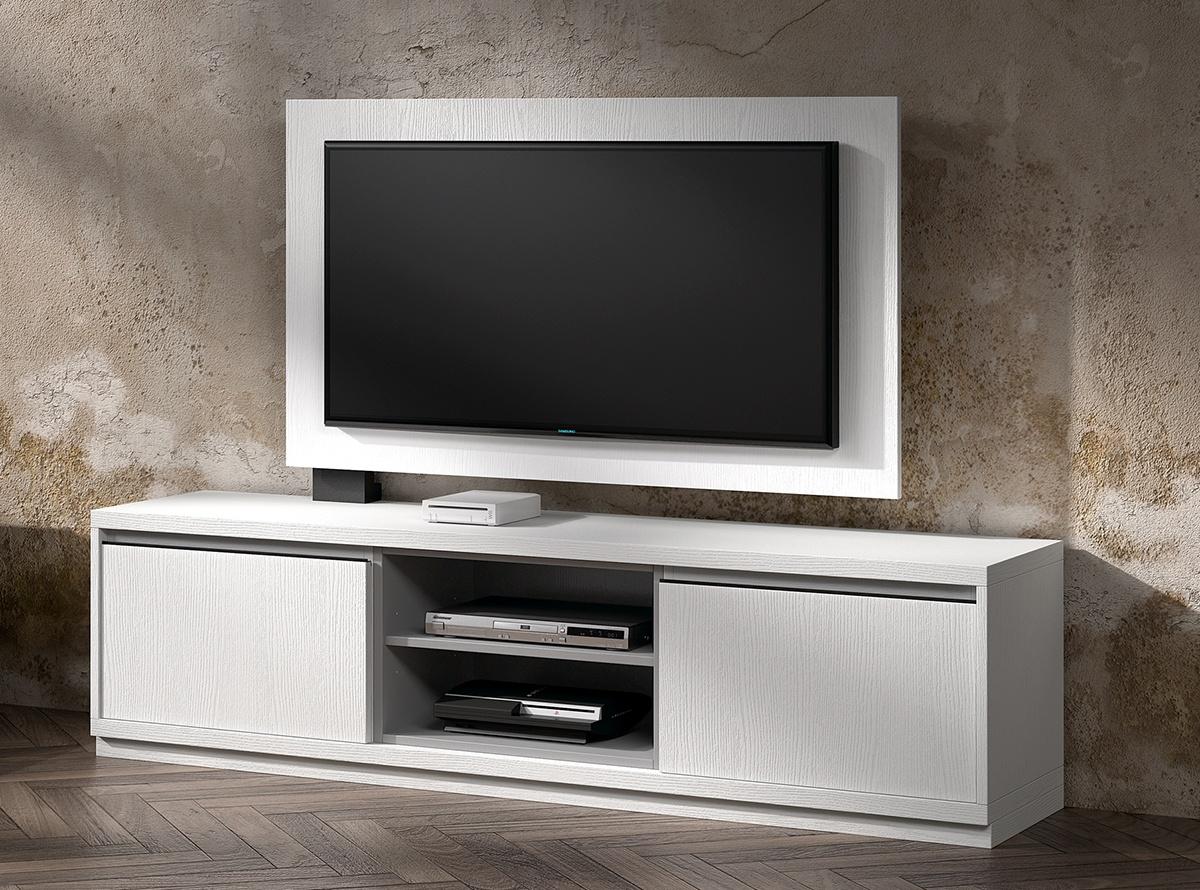 Mueble tv kebit muebles de salon hipermueble - Mueble salon blanco y gris ...