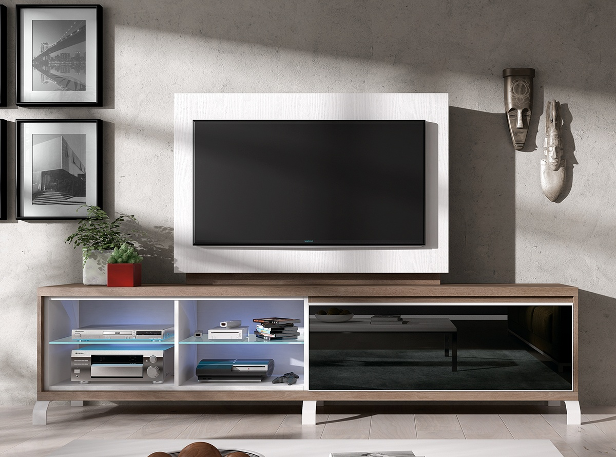 Mueble tv berun muebles de salon hipermueble - Mueble giratorio para tv ...