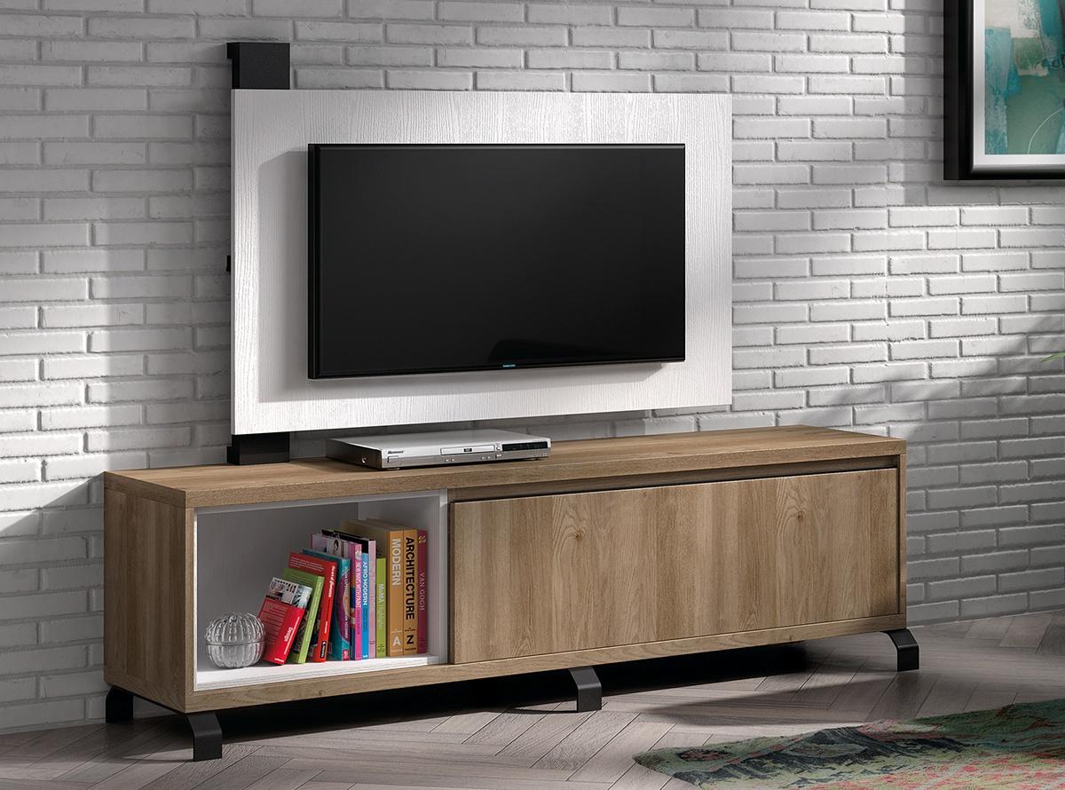 Mueble tv seban muebles de salon hipermueble for Mueble salon television