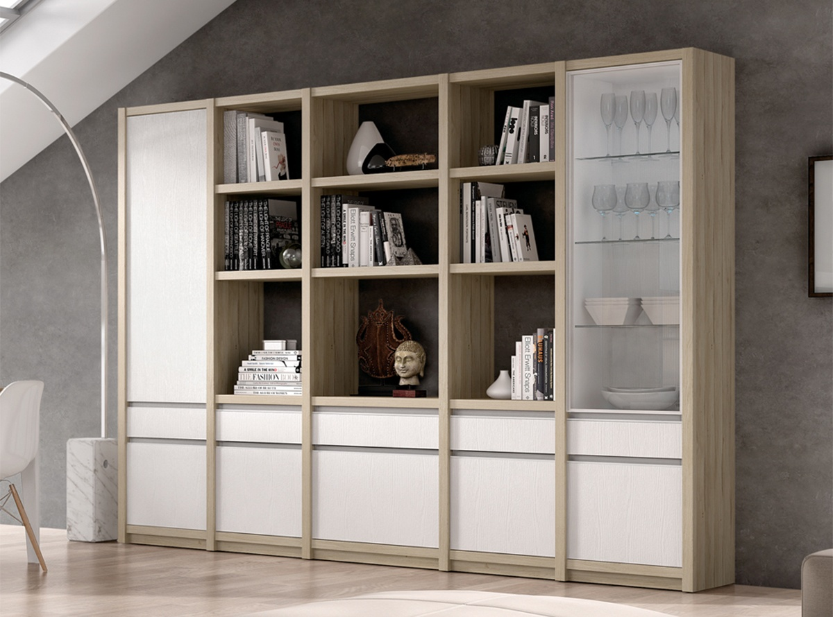 Libreria musur muebles de salon hipermueble for Librerias salon modernas