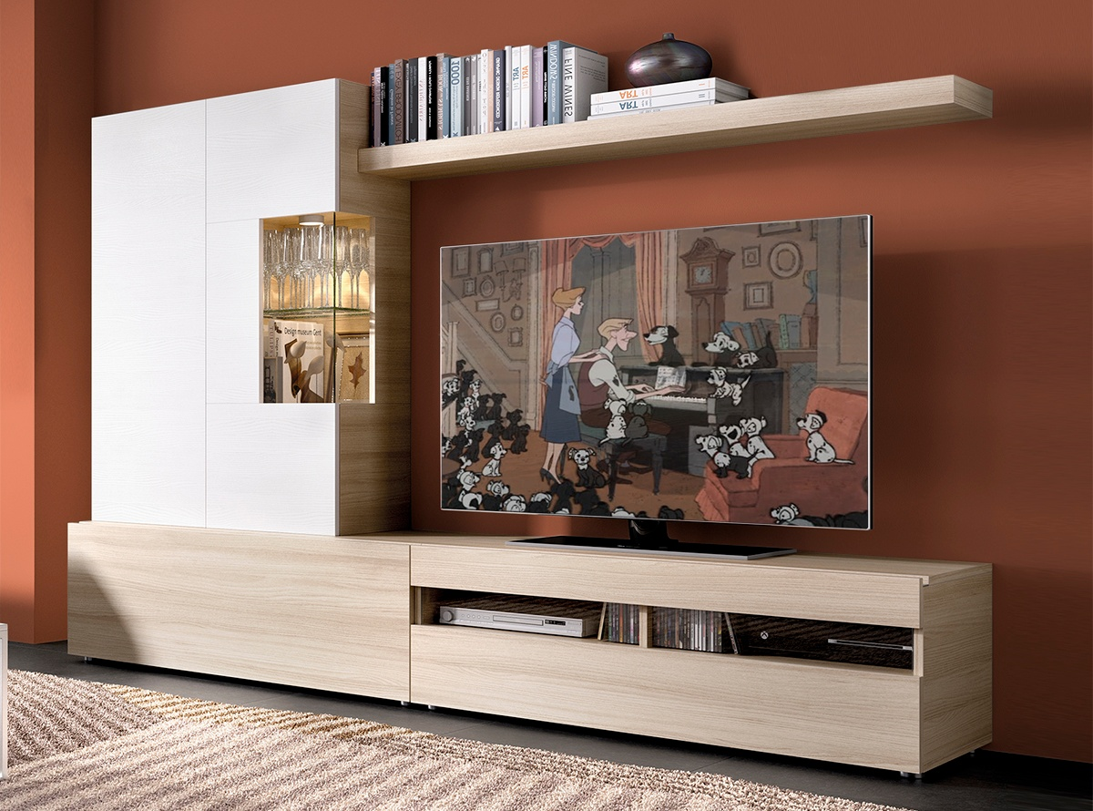 Mueble de salon baden iv salones modernos hipermueble for Outlet muebles salon