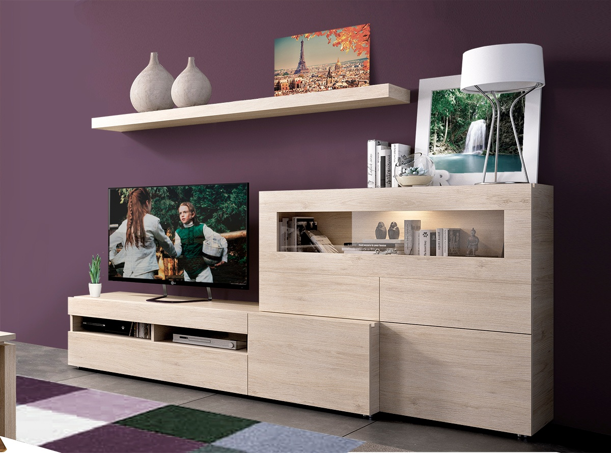 Mueble de salon baden ii salones modernos hipermueble for Outlet muebles salon