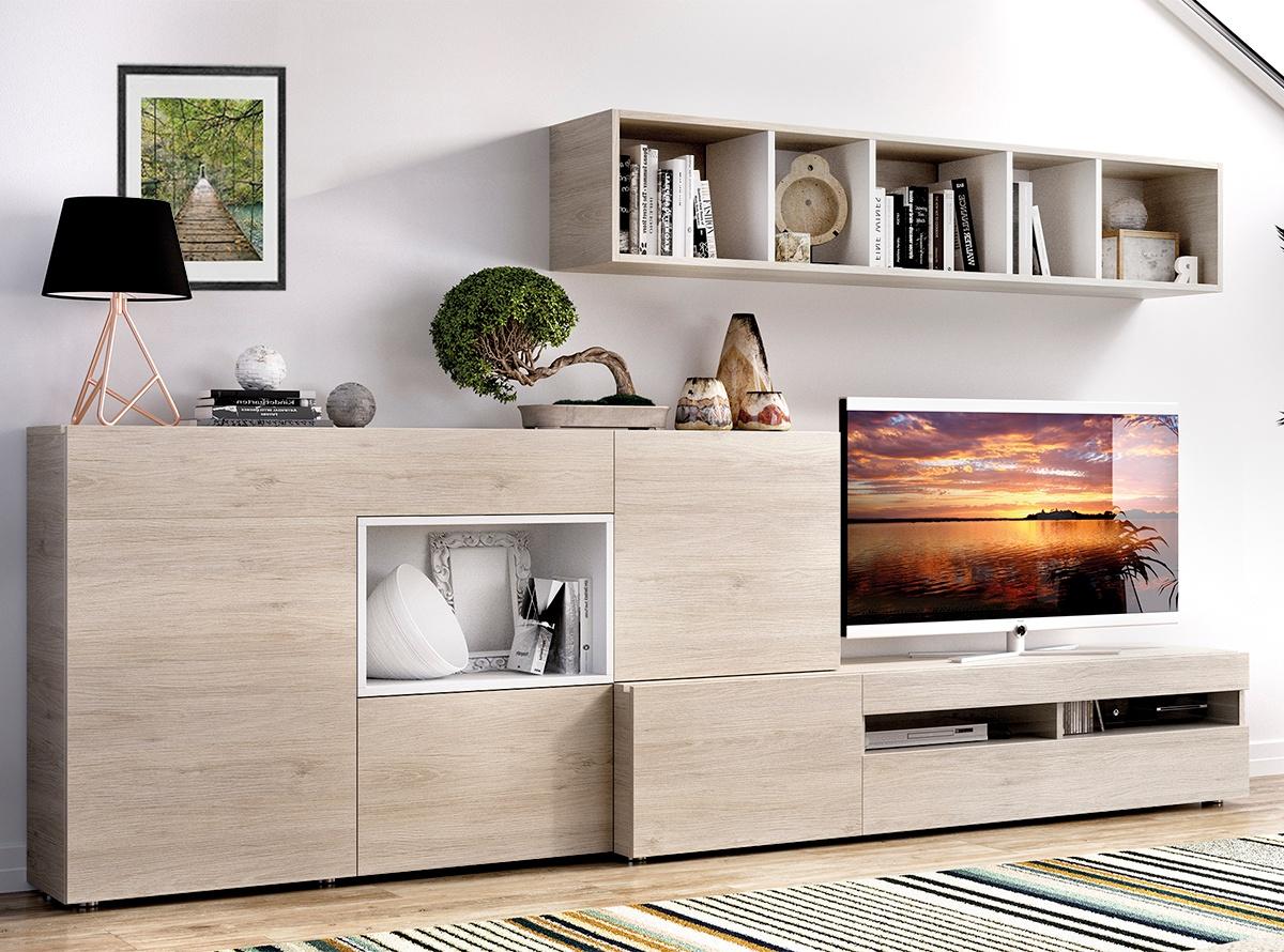 Mueble de salon baden i salones modernos hipermueble for Muebles blanco salon