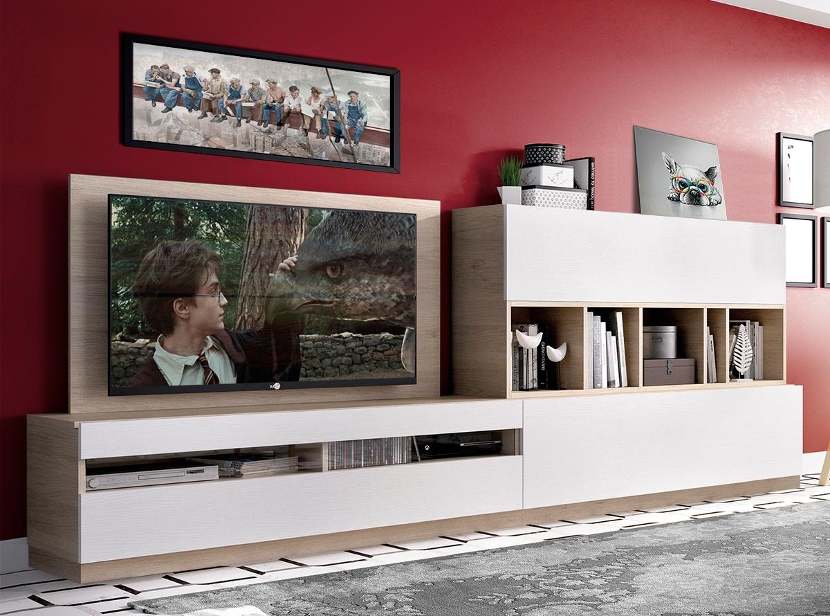 Mueble de salon baden iii salones modernos hipermueble for Muebles de salon compactos