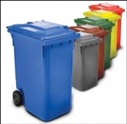 Gran contenedor de basuras de 360 litros