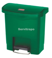 Cubo De Pedal De Resina Pedal Frontal 15l, Color Verde