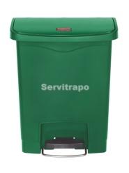 Cubo De Pedal De Resina Pedal Frontal 30l, Color Verde