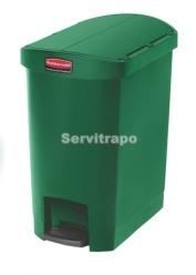 Cubo De Pedal De Resina Pedal Lateral 30l, Color Verde