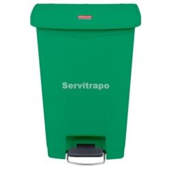 Cubo De Pedal De Resina Pedal Frontal 50l, Color Verde