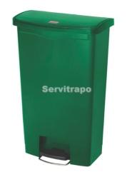 Cubo De Pedal De Resina Pedal Frontal 68l, Color Verde