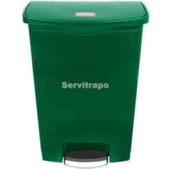 Cubo De Pedal De Resina Pedal Frontal 90l, Color Verde