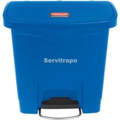 Cubo De Pedal De Resina Pedal Frontal 15l, Color Azul