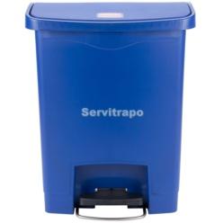Cubo De Pedal De Resina Pedal Frontal 30l, Color Azul