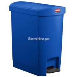 Cubo De Pedal De Resina Pedal Lateral 30l, Color Azul