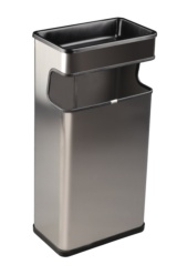 Cendrer paperera rectangular INOX 40 L.