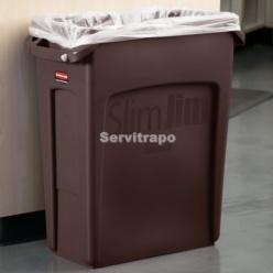 Contenidor Slim Jim 60L amb canals de ventilació MARRÓ