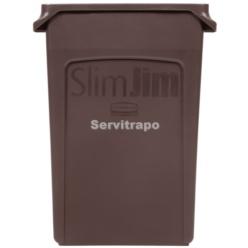 Contenidor Slim Jim 87L amb canals de ventilació MARRÓ