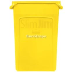 Contenedor Slim Jim 87L con canales de ventilacion AMARILLO