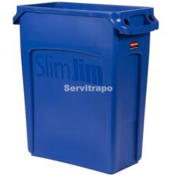 Contenedor Slim Jim 60L con canales de ventilación AZUL