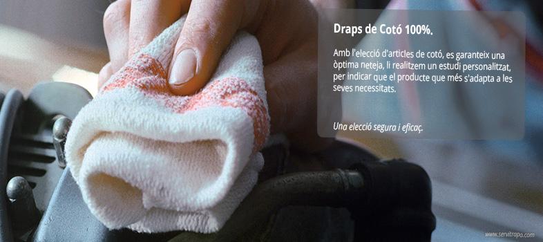 Draps de neteja de cotó per la neteja industrial