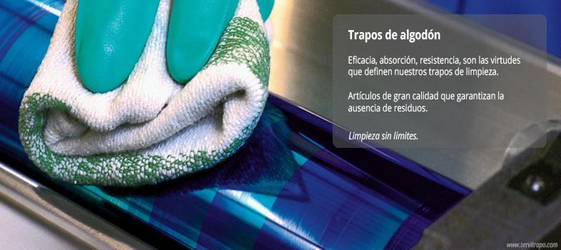 Productos de algodón para limpieza
