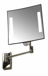 Espejo GALAXY con luz brazo laton cromado tubular
