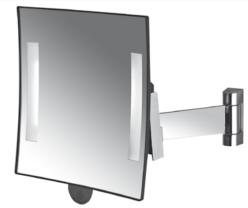 Espejo GALAXY con luz brazo cromado plano