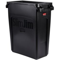 Contenedor Slim Jim 60L con canales de ventilación NEGRO