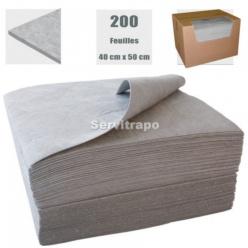 1 CAIXA DE 200 FULLS DE 40 X 50 CM