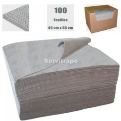 ABSORBENTS 1 CAIXA DE 100 FULLS DE 40 X 50 CM ANTIPELUSA