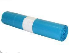 Bolsa basura doméstica 54x60 capacidad 30L galga 55 azul