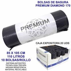 Bolsa de Basura Industrial Premium Diamond 85x105cm galga 170