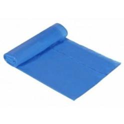 Bolsa basura doméstica autocierre 55x60 capacidad 30L galga 75 azul