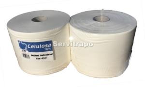 bobina de papel industrial celulosa pura 100% lisa servitrapo