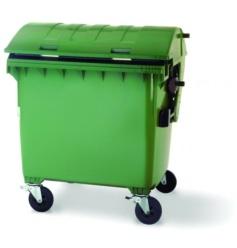 Gran contenedor de basuras 1100 de litros