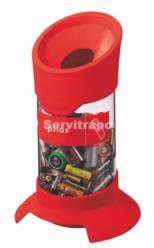 Contenedor para reciclaje de Pilas 20L Rojo