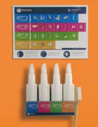 4 Kits Llevataques suport metàl·lic paret / raspall / cartelleria