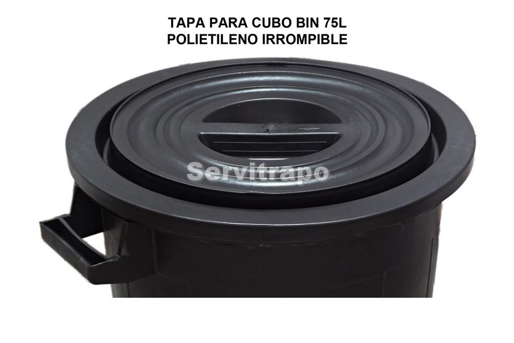 Cubo de reciclaje irrompible de 50 litros negro servitrapo industrial 27963c384b48