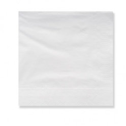Servilletas 33x33 Qual blancas 1 capa 1/4