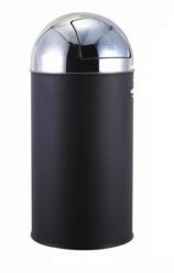Papelera Bullet push Acero pintado epoxi 22L